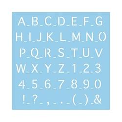 Rayher Dekor-Schablone abc Großbuchstaben blau