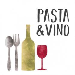 Servietten PASTA & VINO(LB 33x33 cm) Design@Home