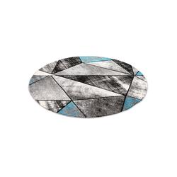 Designteppich Designer Teppich Brilliant Magic Rund, Pergamon, Rund, Höhe 13 mm blau 120 cm x 120 cm x 13 mm