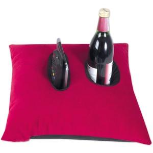Nurtextil24 Relax ME Kissen Allzweckkissen in mehrere Farben & Größen Tablett & Getränkebehälter Sofakissen Kopfkissen Dekokissen Rot-Schwarz 40 x 40 cm
