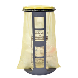 Gies ecoline Müllsackständer, gelb, Abfallsackständer geeignet für Müllsäcke bis 120 l, Maße: Ø 40 x 76 cm