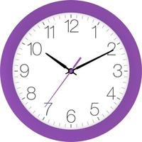 EUROTIME 88800-21-1 Quarz Wanduhr 30cm x 4.5cm Flieder Schleichendes Uhrwerk (lautlos)