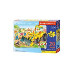 Castorland Puzzle Puzzle 20 Teile Kontur Maxi - Bagger, Puzzleteile