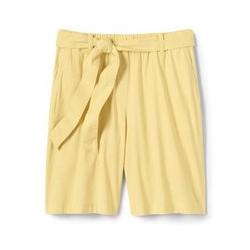 Leinen/Viskose-Shorts mit Bindegürtel, Damen, Größe: M Normal, Gelb, by Lands' End, Goldener Mais - M - Goldener Mais
