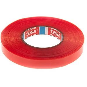 Tesafix Tesa 4965 doppelseitiges Klebeband, Farbe: Transparent, professionelles Klebeband mit hoher Klebkraft, 50 m 19 mm. durchsichtig