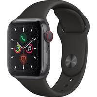 Apple Watch Series 5 GPS + Cellular 40 mm Aluminiumgehäuse space grau, Sportarmband schwarz