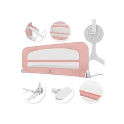 KESSER Bettschutzgitter, Babybettgitter Kinderbettgitter klappbar tragbar Kinderbett Rausfallschutz Bett & Boxspringbett 42cm Höhe Gitter für Babys und Kinder rosa 120 cm