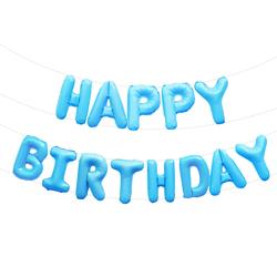 Happy Birthday Folienballon Girlande in blau Geburtstag Kindergeburtstag Party Deko