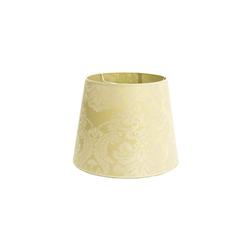 Licht-Erlebnisse Lampenschirm WILLOW Stoff Lampenschirm Weiß elegant Barock Muster Hängeleuchte Flur Lampe