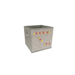 HTI-Line Aufbewahrungsbox Aufbewahrungsbox mit Buchstaben Paloma (1 Stück), Stoffbox grau