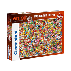 Clementoni® Puzzle Impossible Puzzle 1000 Teile - Emoji, Puzzleteile