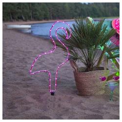 click-licht Gartenleuchte LED Deko Flamingo Tuby in Rosa Batteriebetrieben, Gartenleuchten rosa