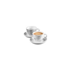 Ritzenhoff & Breker Geschirr-Set CORNELLO Espresso Set grau 4-teilig (4-tlg), Porzellan