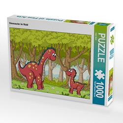 Dinosaurier im Wald Lege-Größe 64 x 48 cm Foto-Puzzle Bild von Gabi Wolf Puzzle