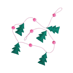 "Kunstgirlande Bast-Girlande""Christmas Tree"", L100cm, rice rosa"