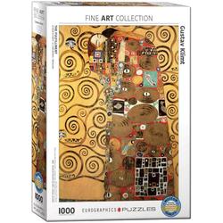 empireposter Puzzle Gustav Klimt - Die Erfüllung - 1000 Teile Puzzle im Format 68x48 cm, Puzzleteile