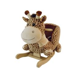 BIECO Schaukelpferd Bieco Plüsch Schaukeltier Giraffe Schaukelpferd Baby Schaukeltier Baby Kinderschaukel Indoor Baby Wippe Baby Schaukel Schaukelpferd ab 1 Jahr Schaukel Baby Spielzeug ab 1 Jahr