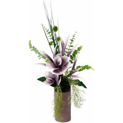 Kunstpflanze Arrangement Soft-Magnolie in Vase Magnolie, I.GE.A., Höhe 60 cm