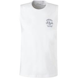 s.Oliver Muskelshirt, mit kleinem Logoprint weiß Herren Muskelshirts Shirts Muskelshirt