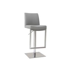 Barhocker zeitgenössisches Design Metall und PU Weiß - KYLE