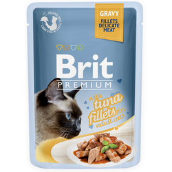 Brit Cat Thunfisch Gravy Nassfutter Katzenfutter Frischebeutel (12 x 0,085 kg)
