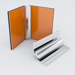 Duschrückwand-Profilsystem Inneneckprofil Aluprofil Aluminiumprofil für 3mm Duschrückwand Küchenspiegel 300cm silber