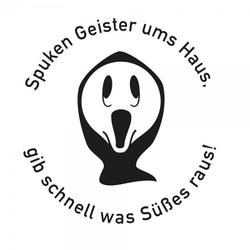 Halloween Holzstempel - Geist 2 (Ø 40 mm)