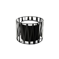 Licht-Erlebnisse Lampenschirm MINA Schwarzer Lampenschirm für Tischleuchten Metall Stoff Zylinder Lampe