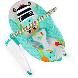 vibrierende Babywippe, Zig Zag Zebra blau