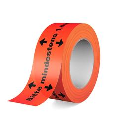 Warnband - Klebeband - Bitte mindestens 1,5m Abstand halten! 66m Rolle, 50mm breit