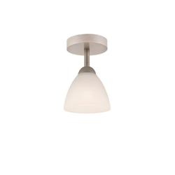 Licht-Erlebnisse Deckenleuchte BATORY Kleine Deckenleuchte Glasschirm wohnlich Wohnzimmer Flur Lampe