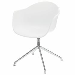 Krzesło obrotowe Thiagie białe z aluminiową podstawą