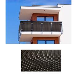 dynamic24 Balkonsichtschutz Polyrattan PVC Sichtschutzmatte 300x90 Balkon Sichtschutz Zaun Windschutz braun