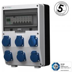 Stromverteiler 6x230V pTD-S/FI 1P Stromzähler SIEMENS und MENNEKES Doktorvolt 4821