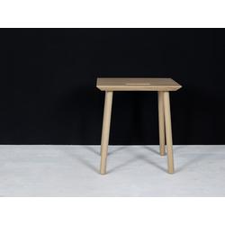 kommod Hocker KNOQDI, Sitzhocker, Blumenhocker, Designhocker, Beistelltisch klein – 45 x 40 x 30 cm – Eiche massiv natur