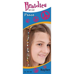 Rayher Bastelset Braidy Haarschmuck-Set Peace