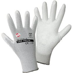 Worky L+D ESD Nylon/Carbon-PU 1171 Nylon Arbeitshandschuh Größe (Handschuhe): 9, L EN 388:2016 CAT