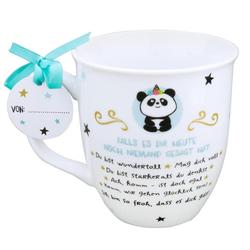 Tasse mit Panda mit lieber Textbotschaft