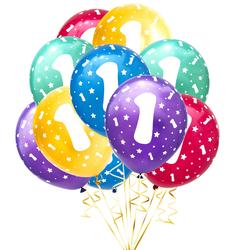 Luftballon Set Zahl 1 für 1. Geburtstag Kindergeburtstag Party 10 Deko Ballons Geburtstagsdeko bunt
