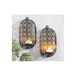 HTI-Living Kerzenhalter Wandkerzenhalter 2er Set Orientalisch (2 Stück)