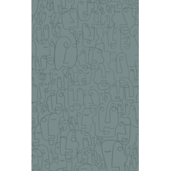 Faces Dotted Notebook (Gray) als Buch von Design
