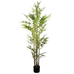 Kunstbambus Künstlicher Bambus Kunstpflanze KP630 Bambus, Arnusa, Höhe 180 cm, Real-Touch, im Topf