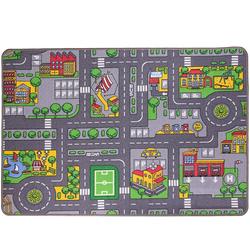 Kinderteppich Kinder Spielteppich Kinderteppich Straße Auto Design, ONDIS24, 133 x 95 cm 133 cm