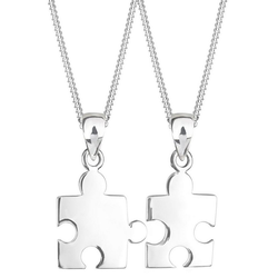 Elli Ketten-Set Elli Halskette Partnerketten Puzzlestücke, 0105141611 (Set, 4-tlg)