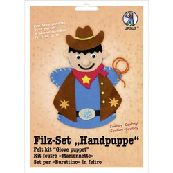 Filz-Set Handpuppe Cowboy