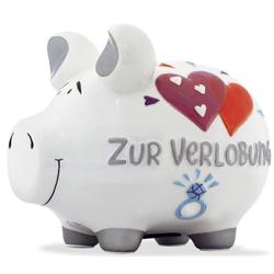 """KCG """"Spardose Schwein """"""""Zur Verlobung""""""""   Keramik, mittel"""""""