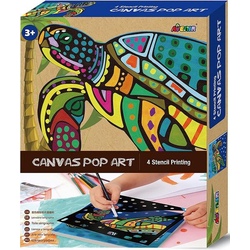 Avenir 6301339 - Canvas Pop Art, Schildkröte, Schablonen-Malerei, Malset
