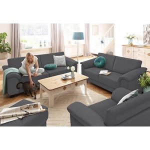 Home affaire Sitzgruppe Anna, (Set, 2-tlg), 2-Sitzer und 3-Sitzer grau