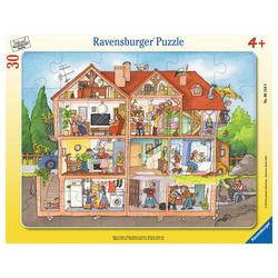 Ravensburger Rahmenpuzzle Blick Ins Haus - Rahmenpuzzle, 30 Puzzleteile bunt