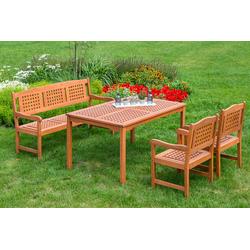 MERXX Gartenmöbelset Lima beige Gartenmöbel-Sets Gartenmöbel Gartendeko